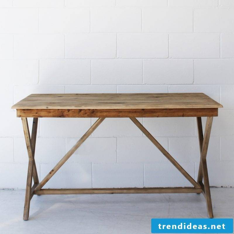 Desk yourself build instruction desk from wooden diy furniture