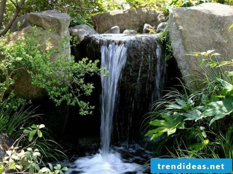 Creek with waterfall landscaping