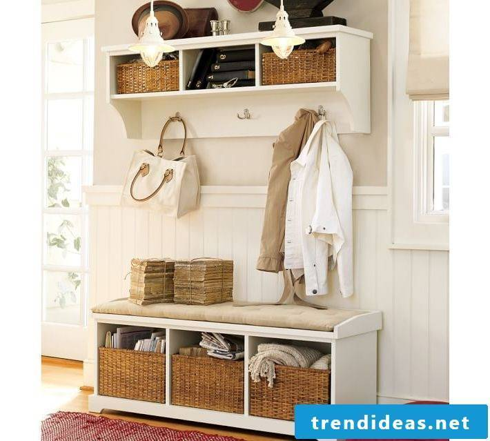 Chic country-style wardrobe homemade in the hallway