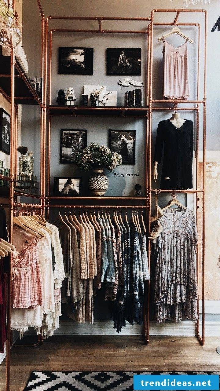 Copper tube wardrobe
