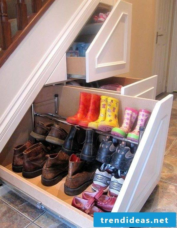 Shoe cabinet under the stairs