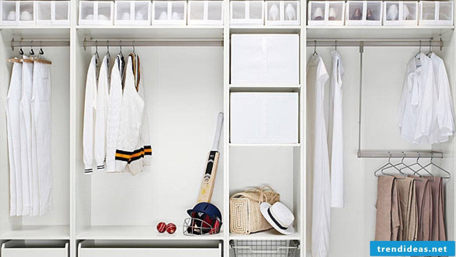 Build the wardrobe yourself in white