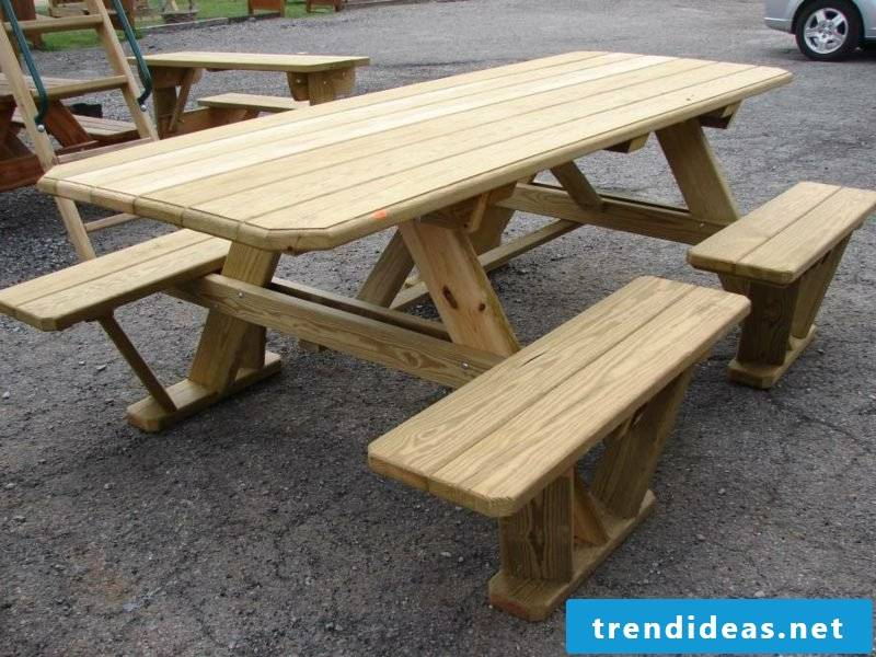garden table build yourself wooden picnic tables