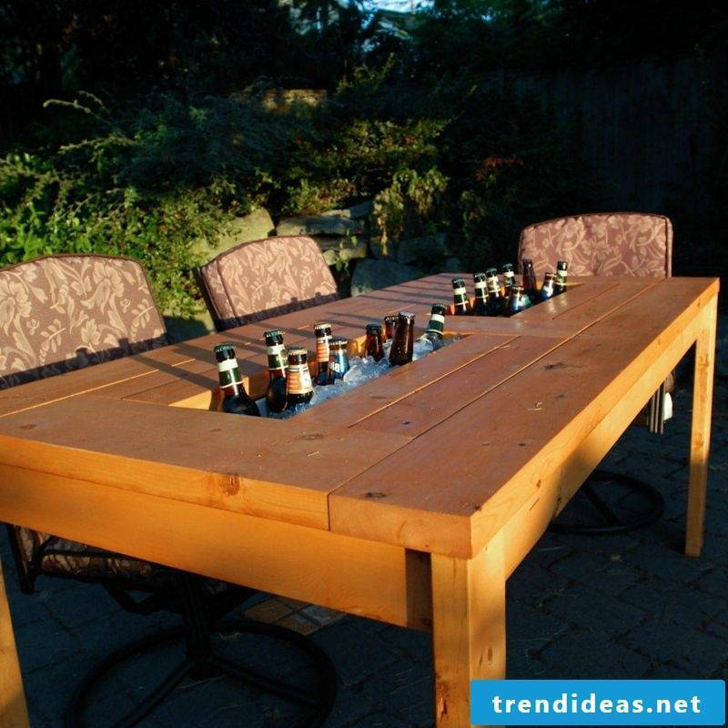 garden table build yourself building furniture