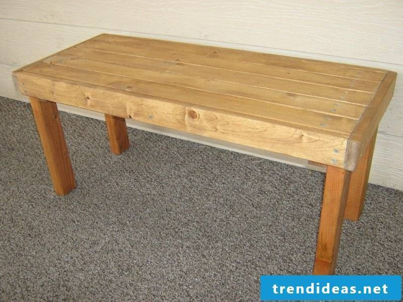 garden table build yourself simple outdoor wood furniture