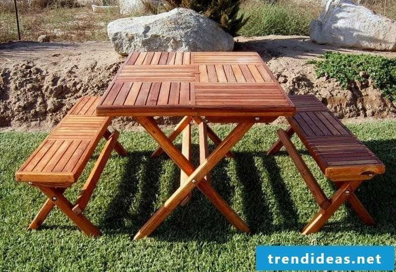 garden table build yourself portable folding picnic table