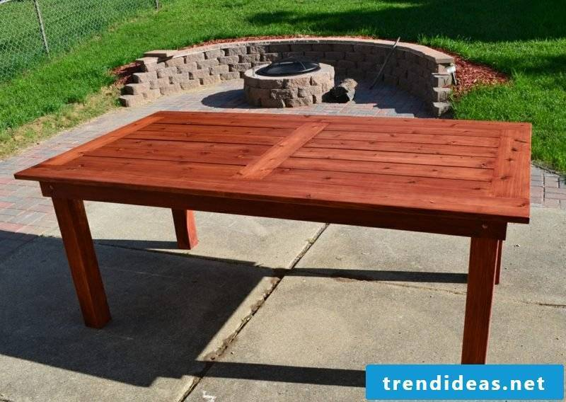 garden table build your own patio furniture