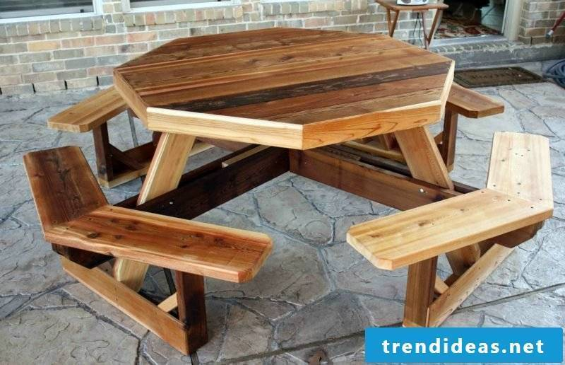 garden table build your own octagonal picnic table