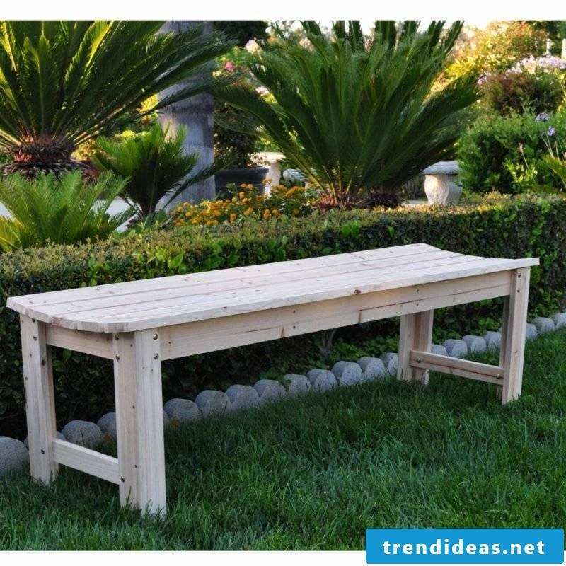 garden table build your own garden bench