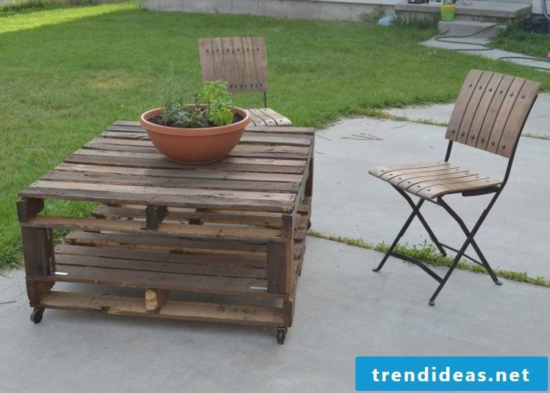 garden table build yourself furniture