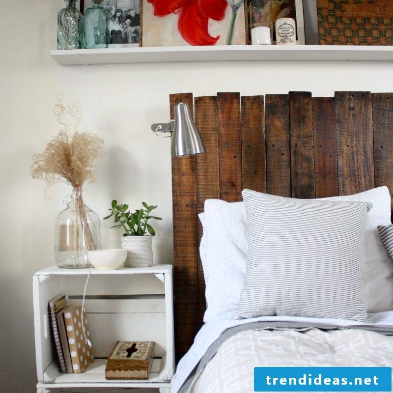 Build headboard for double bed yourself