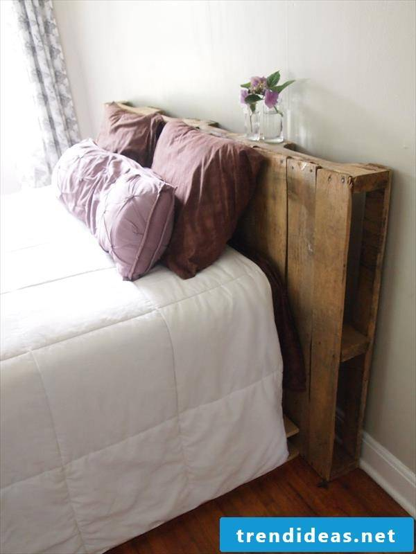 Build Headboard For Bed Of Europallets Yourself Diy Instructions