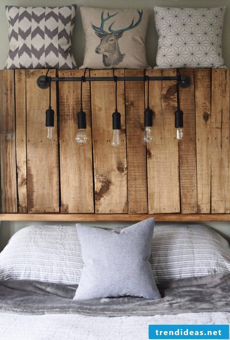 Build headboard from pallets yourself: DIY instructions
