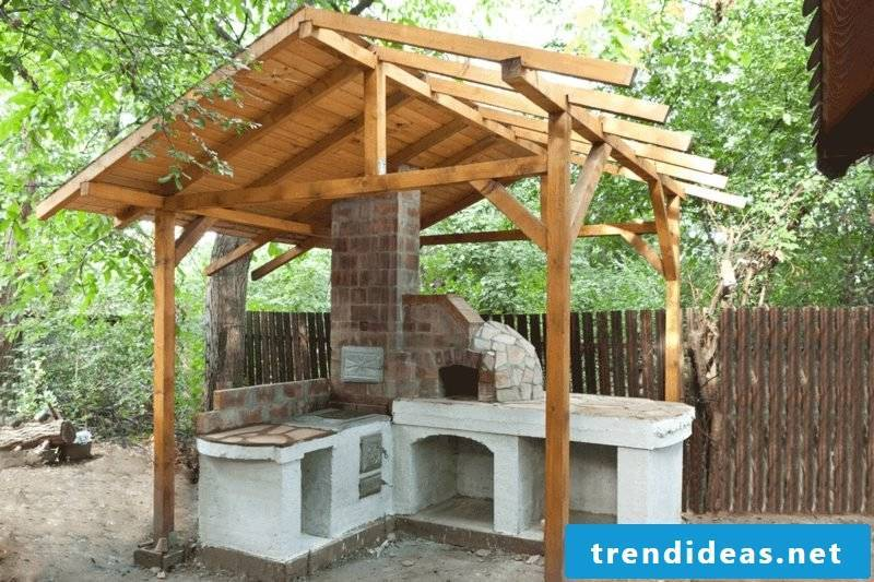 pizza oven build building roof
