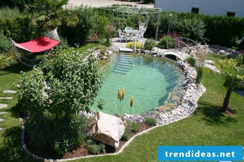 Swimming pond itself build pleasant