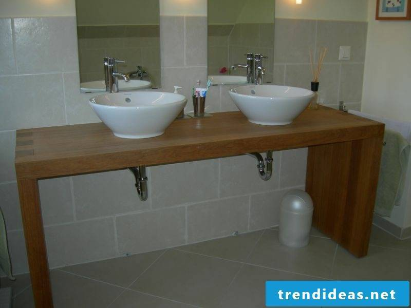 Build the washbasin yourself