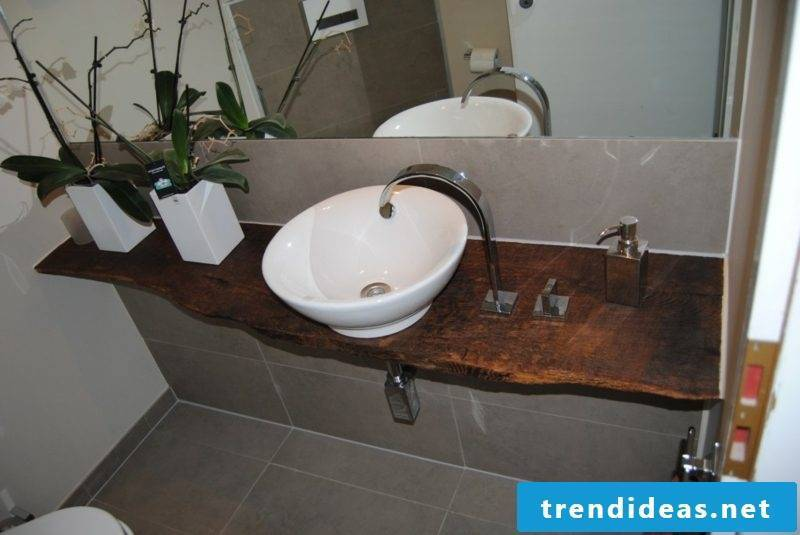 interesting vanity driftwood