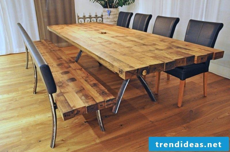 long dining table massive wood top