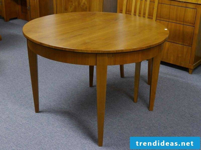 round wooden table classic look