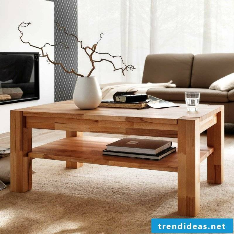 classic wooden table living room