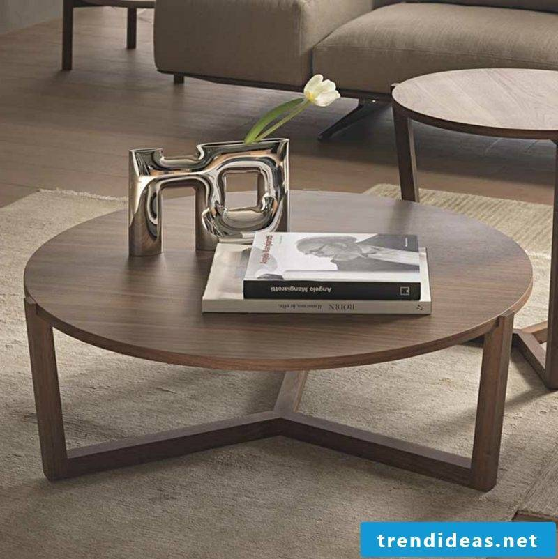 decorative wooden coffee table modern look