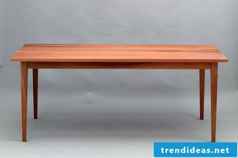 Wooden table classic look rectangular