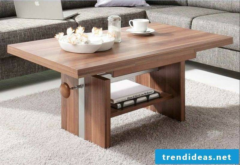 Living room table wood modern look