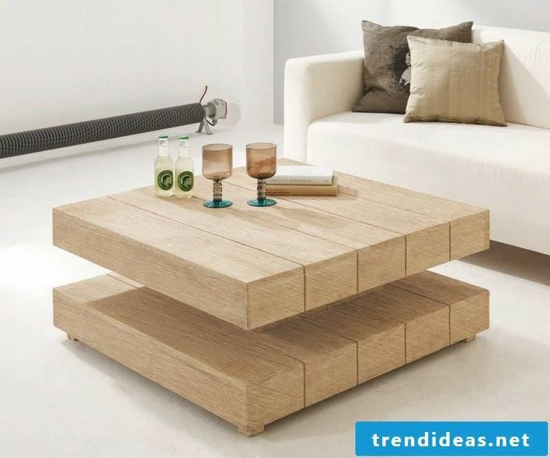 decorative coffee table made of wood