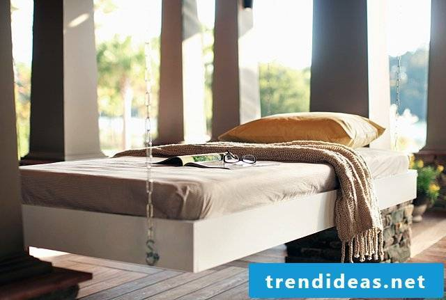 Build your own bed Hanging bed yourself build DIY beds build