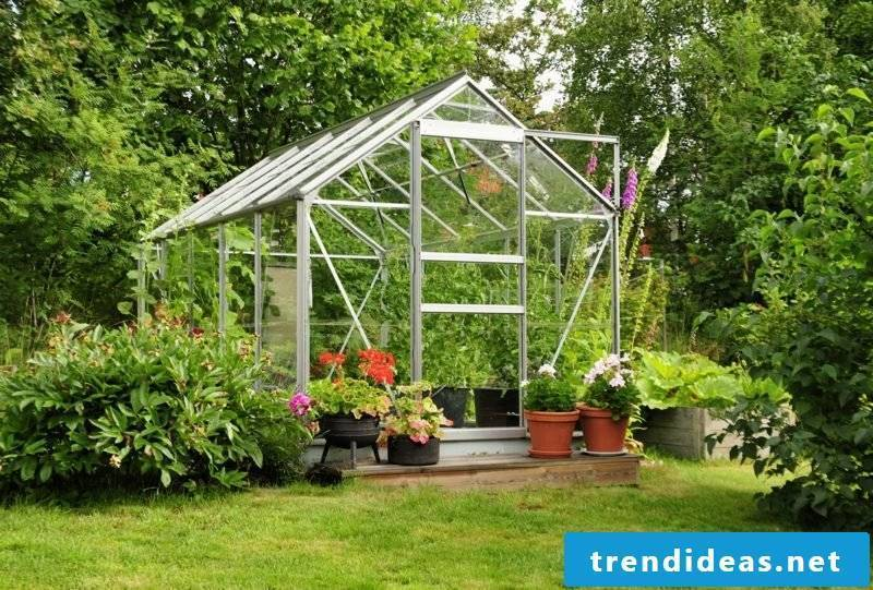 Greenhouse self-built