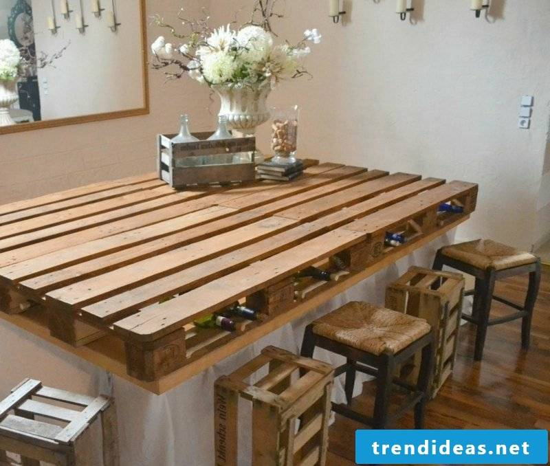 Kitchen island itself build creative ideas Kitchen island made of Euro pallets