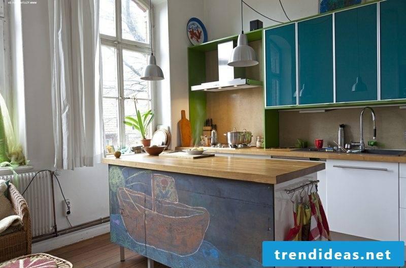 Kitchen island unusual design