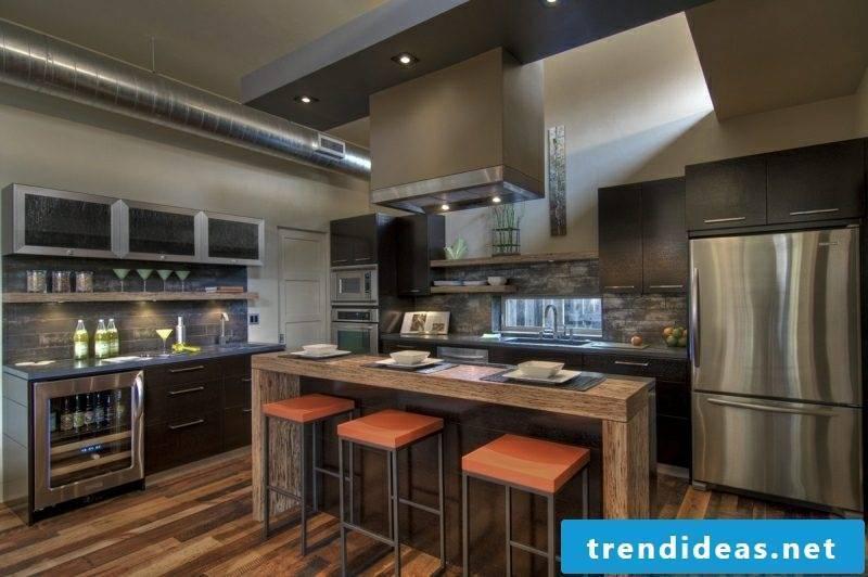 Counter build brick kitchen