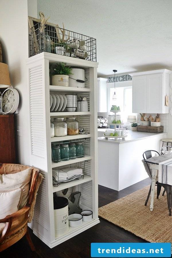Storage space in the kitchen?  Build a shelf yourself!
