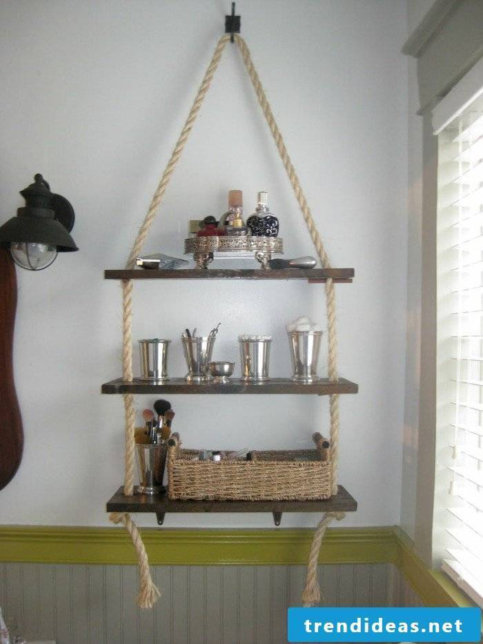 Shelf build with rope