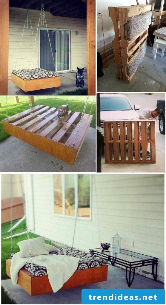 Build a bed of pallets yourself