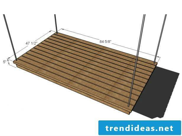 Build a suspension bed yourself: DIY Instructions for bed made of pallets