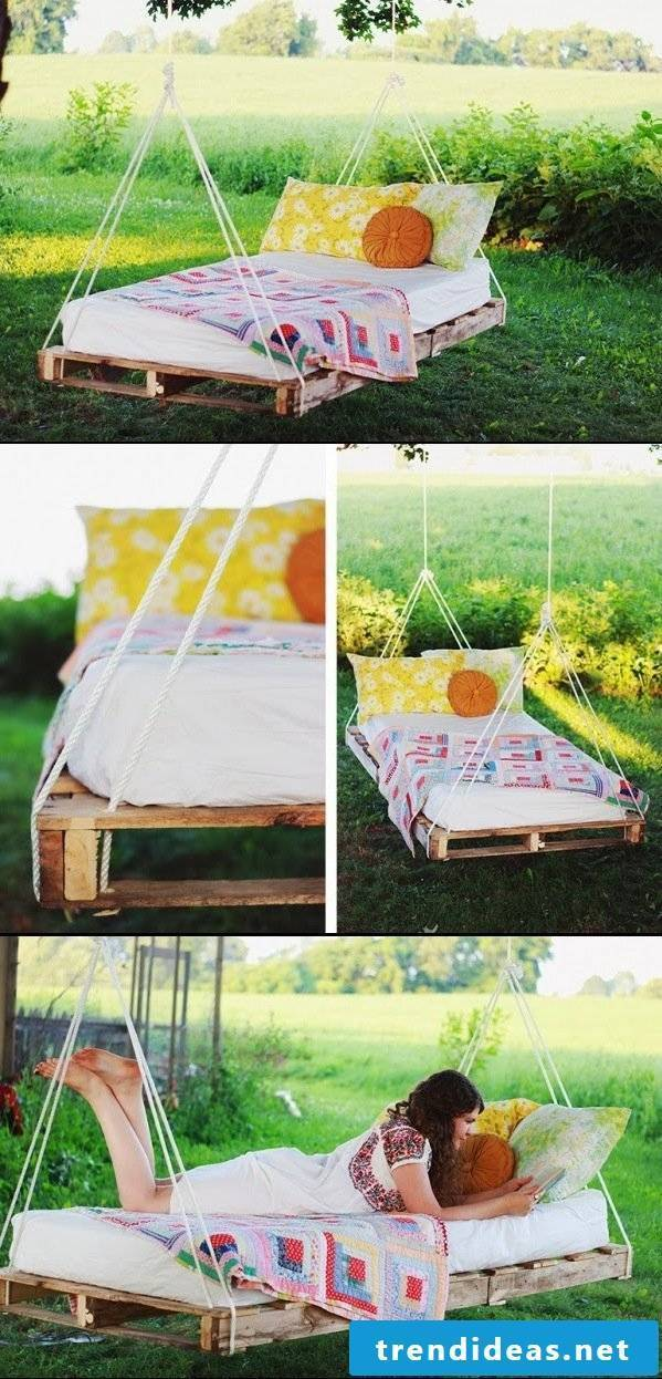 Build a hanging bed of pallets yourself - DIY instructions