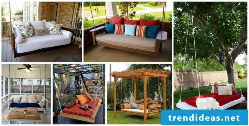Proper rest: bed of pallets in your own garden