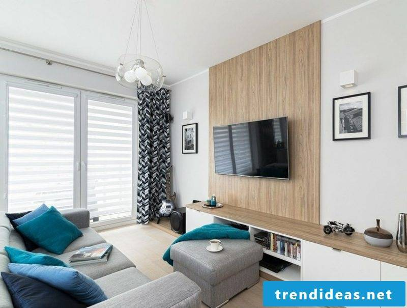 TV wall itself build beautiful design wall panels made of wood