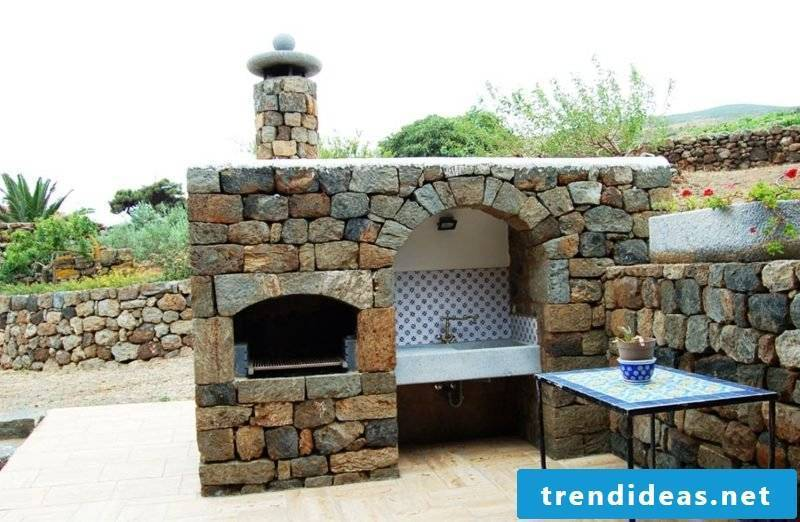 Grill yourself build natural stone