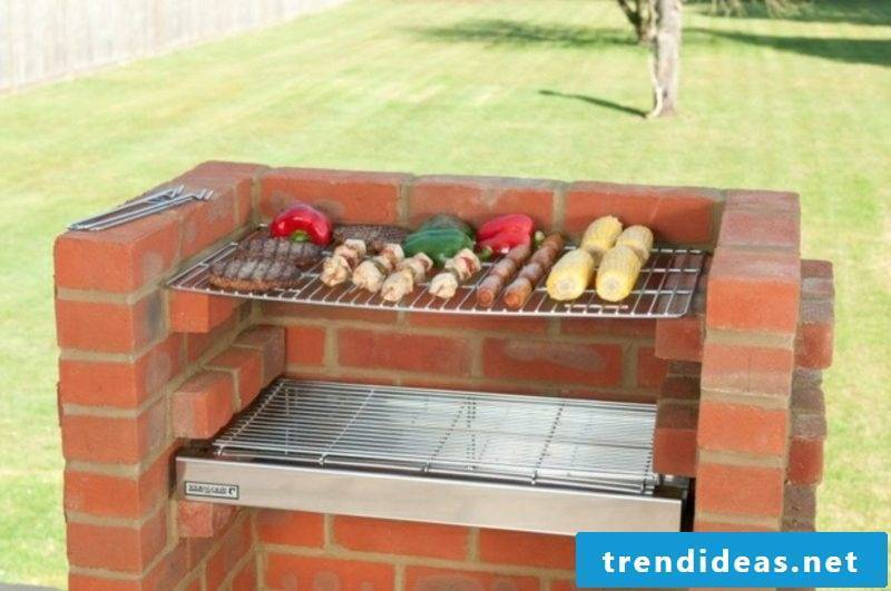 Stone barbecue build yourself organize barbecue party in the garden