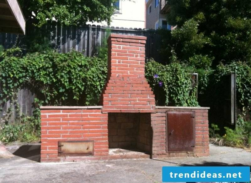 large barbecue fireplace made of fireclay garden