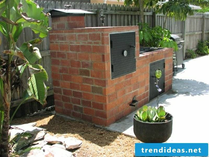 interesting barbecue fireplace garden