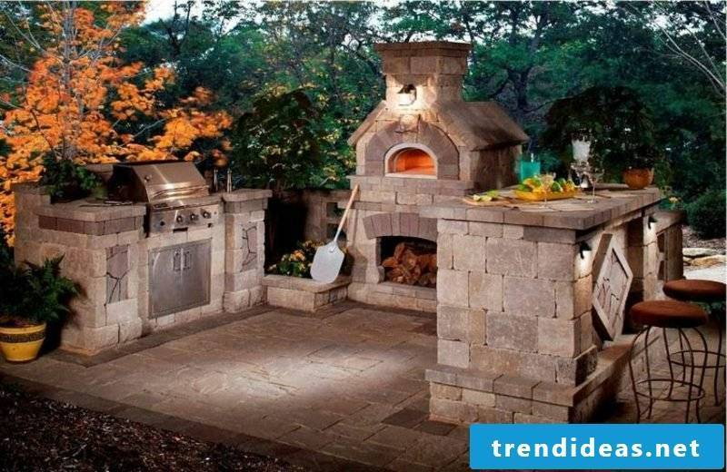 Outdoor fireplace and pizza oven stone