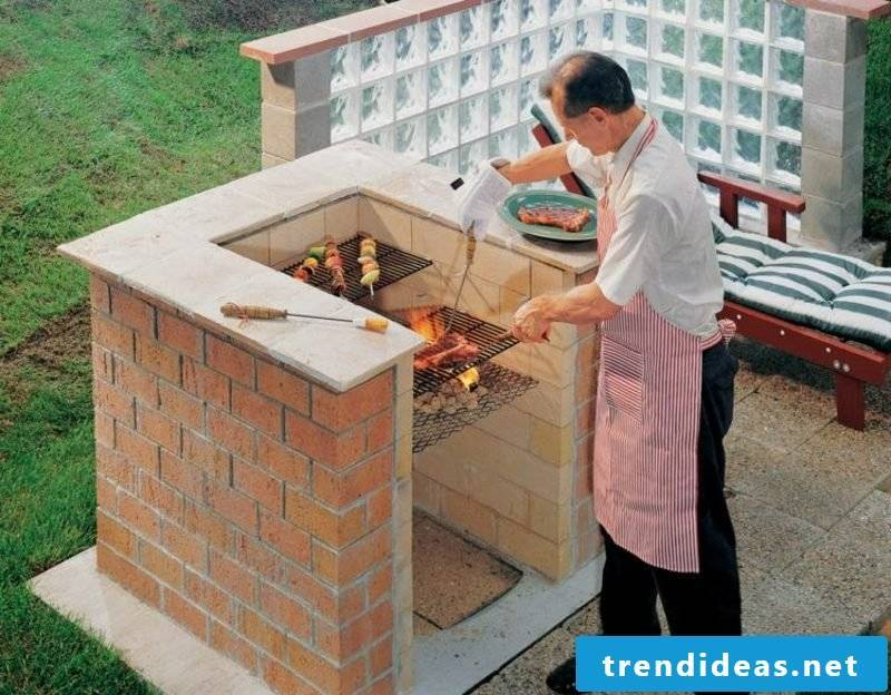 Grill yourself build barbecue outdoors