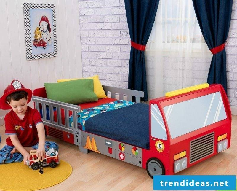 growing baby bed Fire truck boy's room