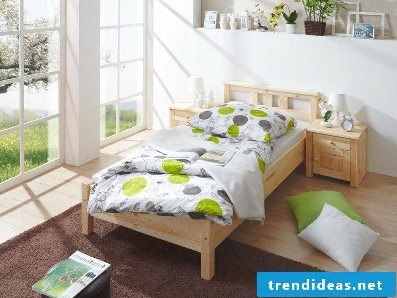 Bed sizes single bed wood classic