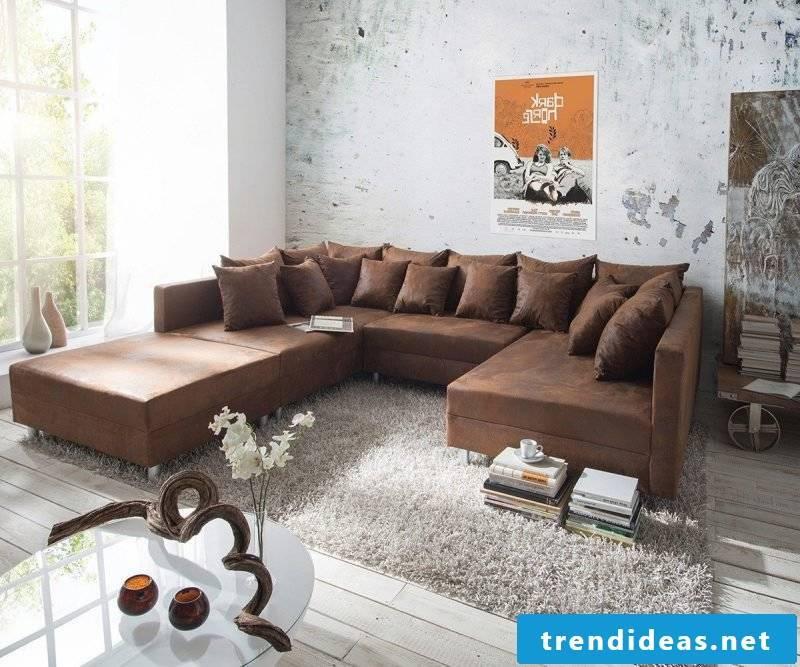 Designer sofas leather sofa