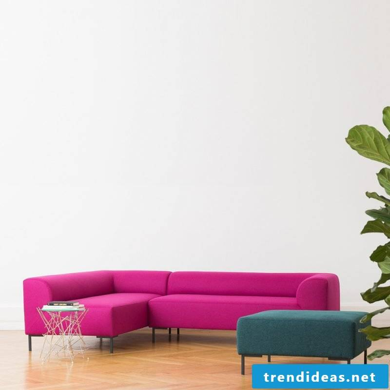 Material and color of the designer sofa